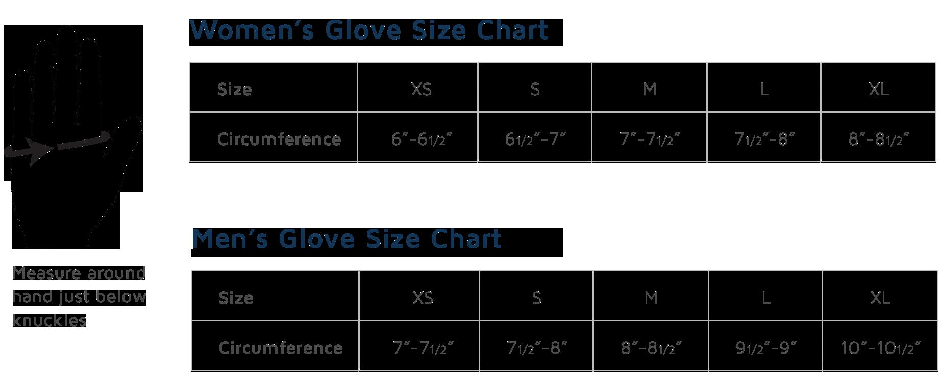 Obermeyer Adult Gloves Size Chart