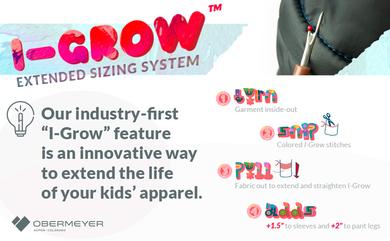 obermeyer i-grow features