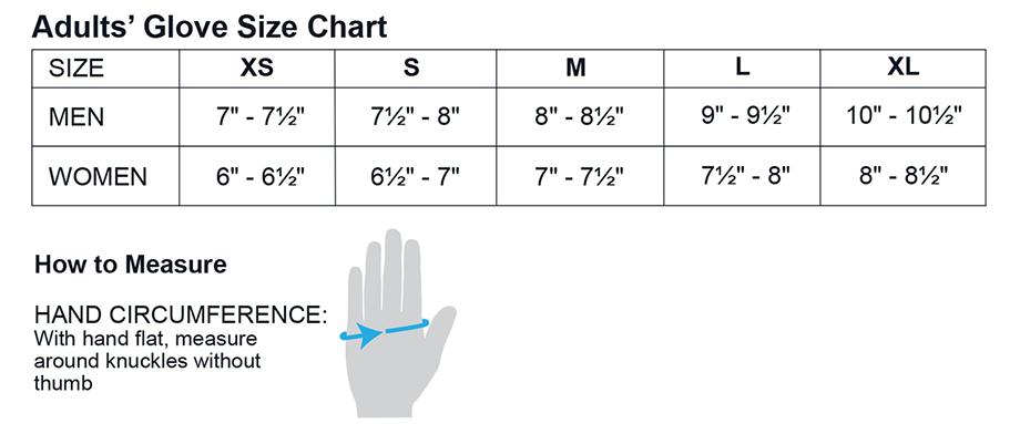 Obermeyer Clove Size Chart