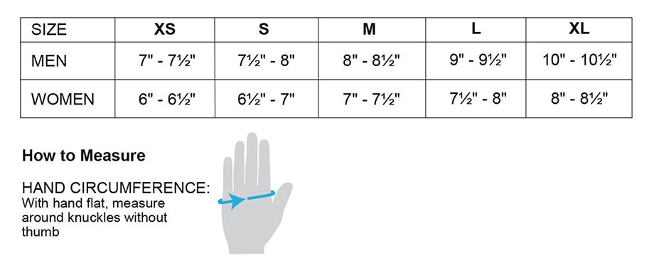 Obermeyer Adult Glove Sizing