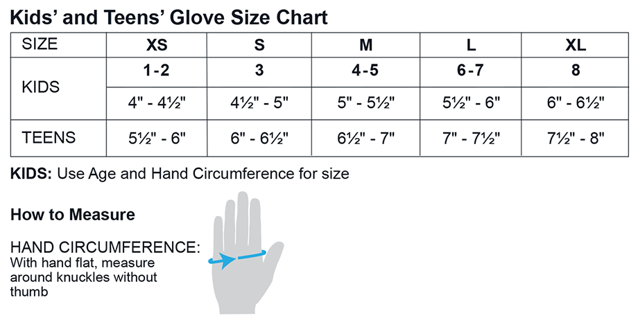 Obermeyer Kids Glove Sizing
