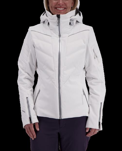 Razia Down Hybrid Jacket - White, 2