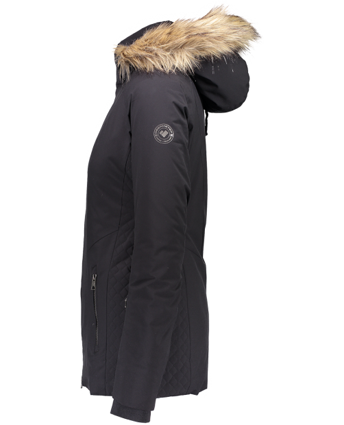 Siren Jacket w/ Faux Fur - Black, 2