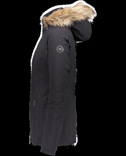 Siren Jacket w/ Faux Fur - Black, 2