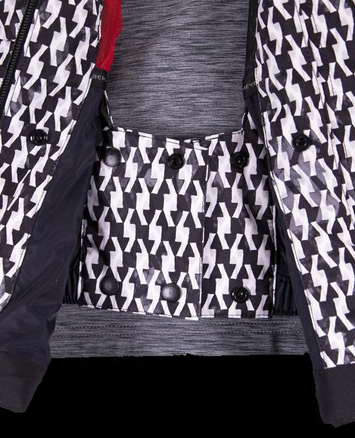 Cosima Down Jacket - Black & Bianco, 2