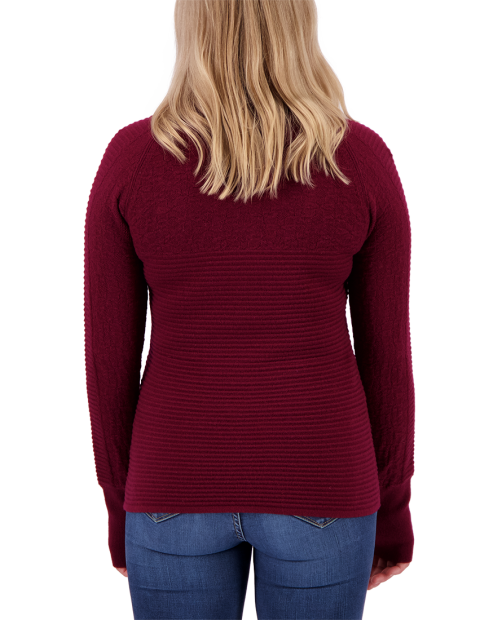 Dolly Cashmere-Blend 1/2 Zip - Wine-Not, XS