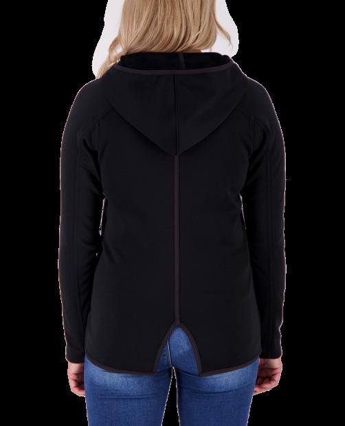 Lila Fleece Pullover - Black, XS