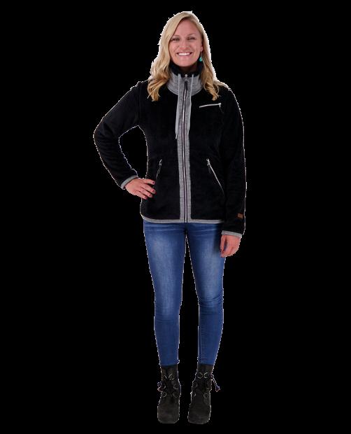 Britt Fleece Jacket - Black, XS