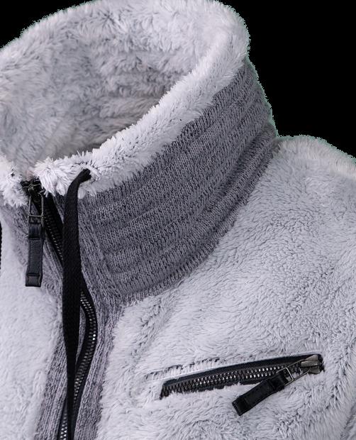 Britt Fleece Jacket - Fog, XS