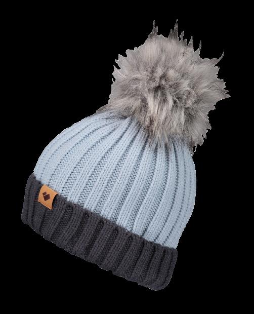Denver Faux Fur Pom Hat - Ice Ice Baby, WOMEN