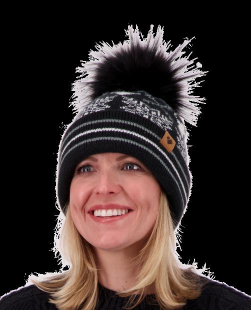 Dallas Knit Pom Hat - Black, WOMEN