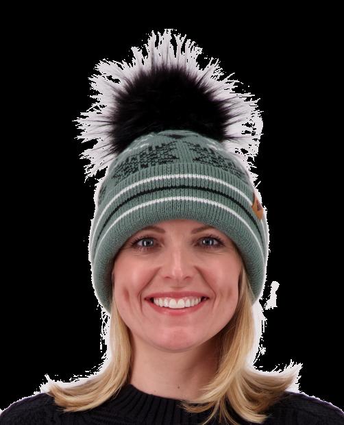 Dallas Knit Pom Hat - Sage, WOMEN