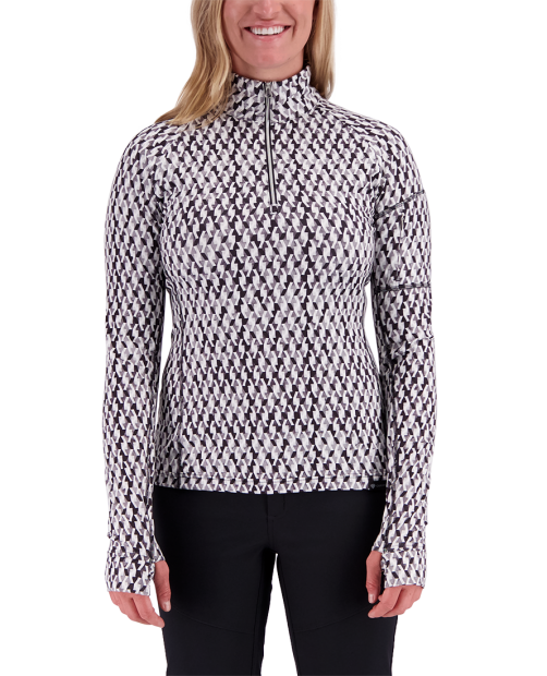 Discover 1/4 Zip Baselayer - Black & Bianco, XS