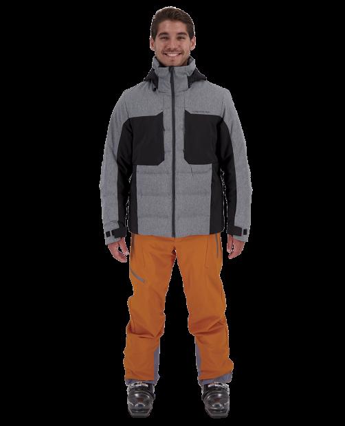 Rex Down Hybrid Jacket - Knight Black, S
