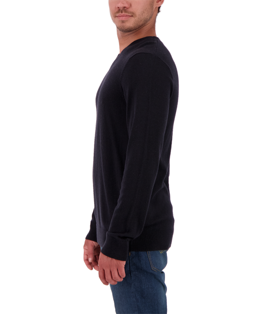 Mason V-Neck Sweater - Black, S