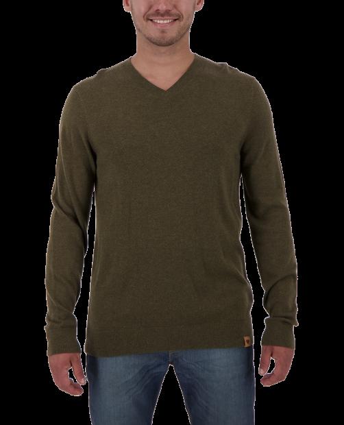 Mason V-Neck Sweater - Military Time, S