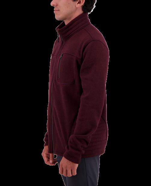 Joshua Fleece Jacket - Wine-Not, S