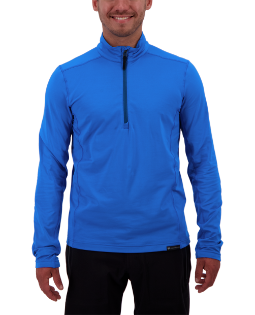 Lean 1/2 Zip Baselayer Top - Blue Vibes, S