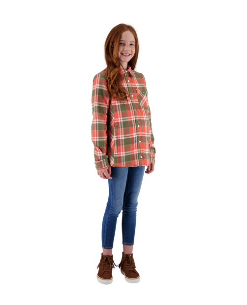 TG's Avery Flannel Jacket - Coral Berm Plai, XS