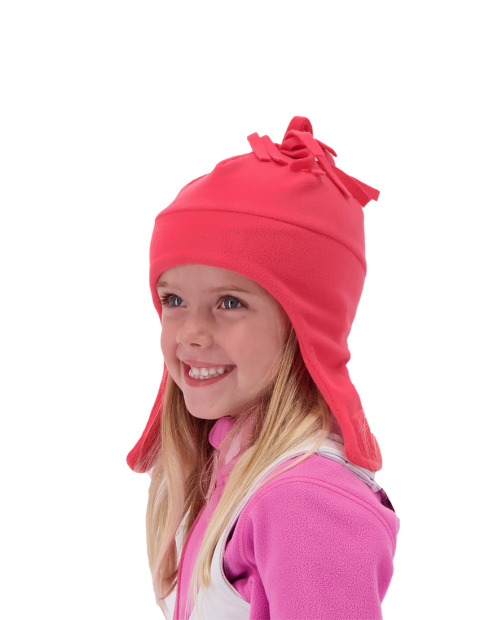 Orbit Fleece Hat - Parisol Pink, 1-4