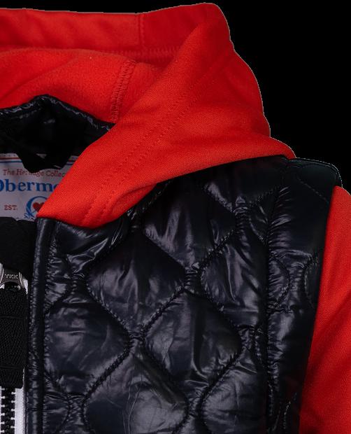 Hayden Hybrid Fleece Jacket - Red, XS