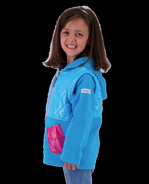 Hayden Hybrid Fleece Jacket - Unicorn Sky, XS