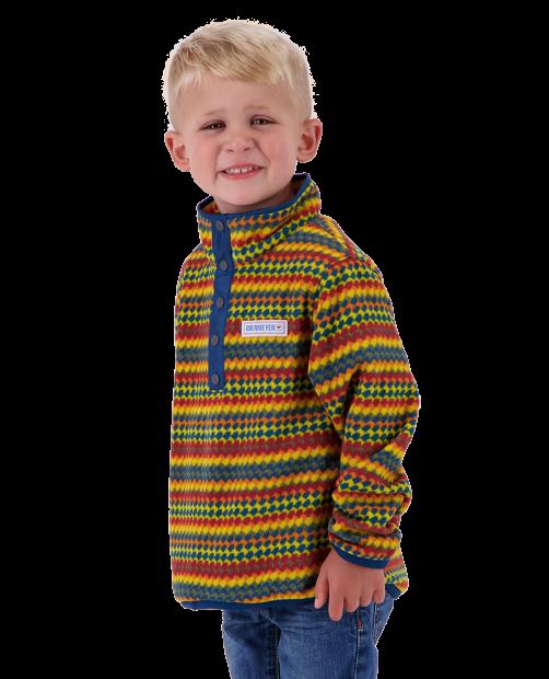 Kid's Boulder Fleece - Retro Geo, XS