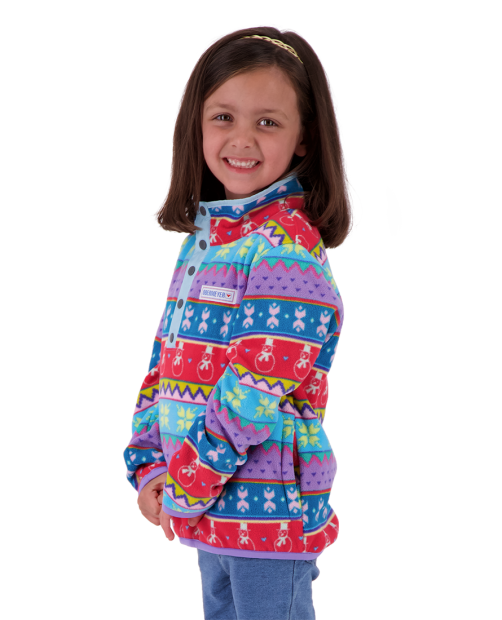 Kid's Boulder Fleece - County Fair Isl, XS