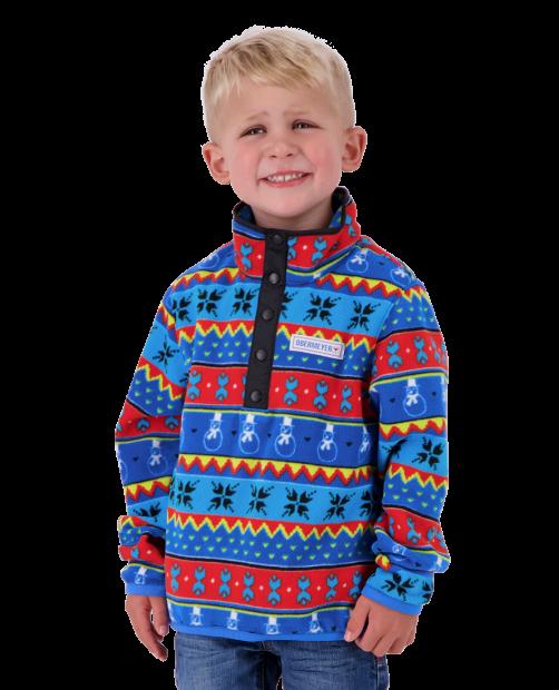 Kid's Boulder Fleece - Pop Art Isle, XS