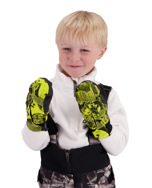 Thumbs Up Mitten Print - Night Vision Ca, XS