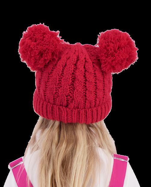 Fayetteville Knit Double Pom - Parisol Pink, KIDS